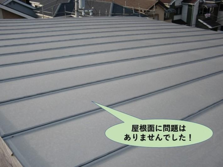 貝塚市の屋根面に問題はありません