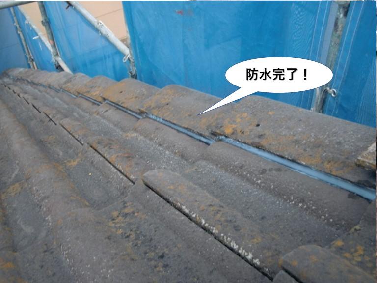 岸和田市の屋根防水完了