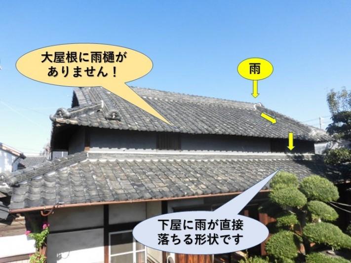 岸和田市西之内町の屋根の形状
