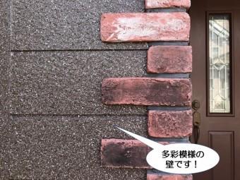 和泉市の多彩模様の壁です