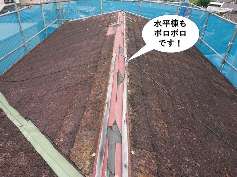 岸和田市の水平棟もボロボロです
