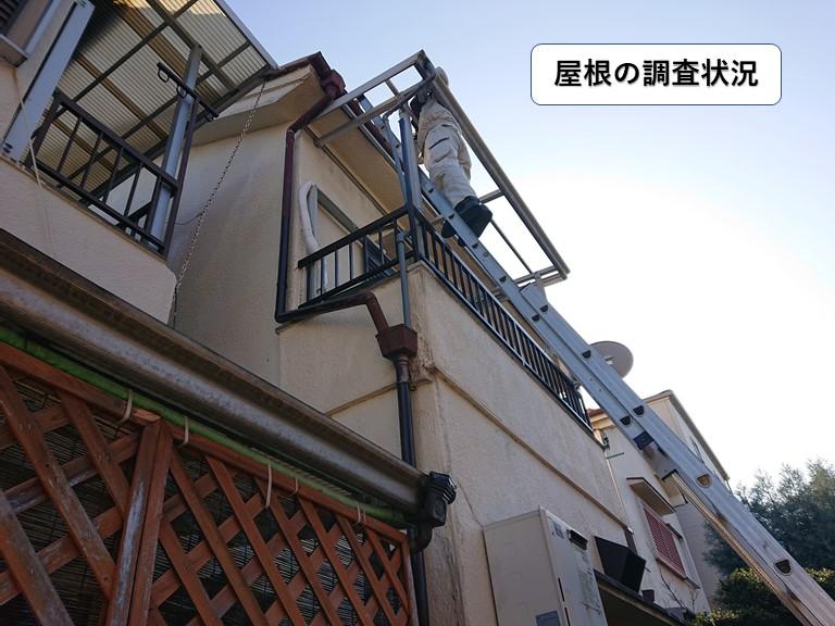 泉大津市の屋根の調査状況