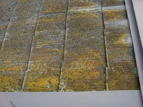 岸和田市真上町の外壁塗装と屋根塗装で屋根現況