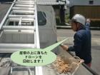 泉佐野市の屋根に落ちたドローンを回収します!
