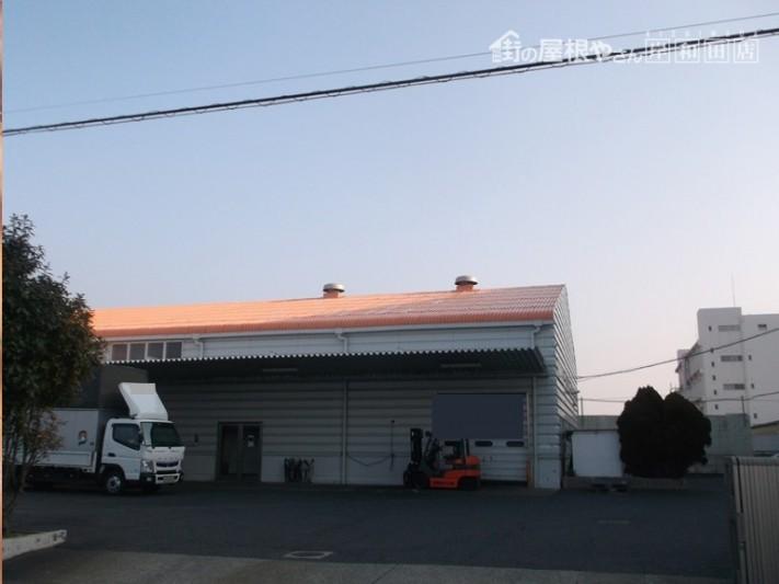 泉佐野市の工場の雨漏り修理完了