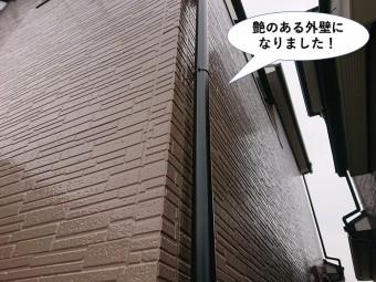 忠岡町の艶のある外壁になりました