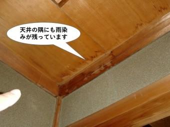 泉佐野市の天井の隅にも雨染みが残っています