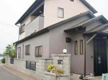 岸和田市真上町の屋根塗装と外壁防水もした外壁塗装