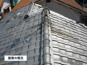泉佐野市の屋根の現況