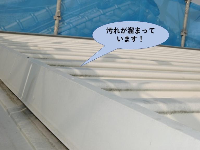 岸和田市の折板屋根の現況