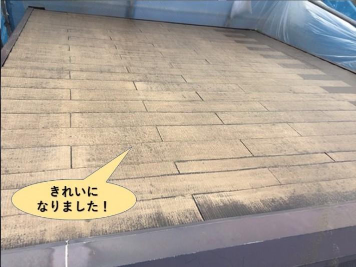 泉大津市の屋根洗浄後きれいになりました!