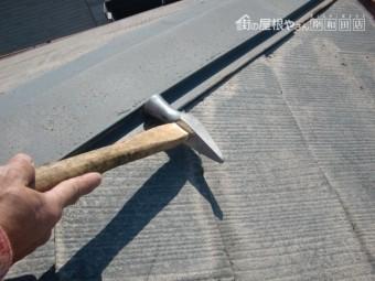 泉大津市の棟板金を固定