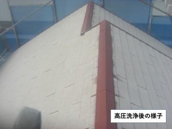 阪南市の屋根の高圧洗浄後の様子