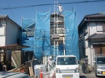 岸和田市土生町の屋根葺き替え工事
