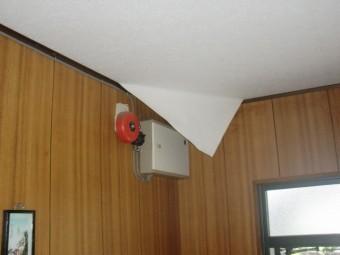 和泉市青葉台の雨漏りでめくれた天井クロス