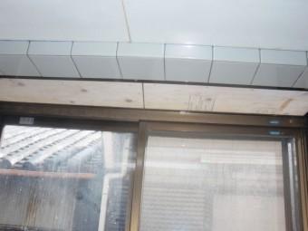 岸和田市紙屋町の出窓内部の天井修理