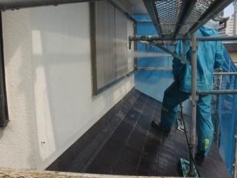 岸和田市土生町の高圧洗浄で雨戸なども洗浄