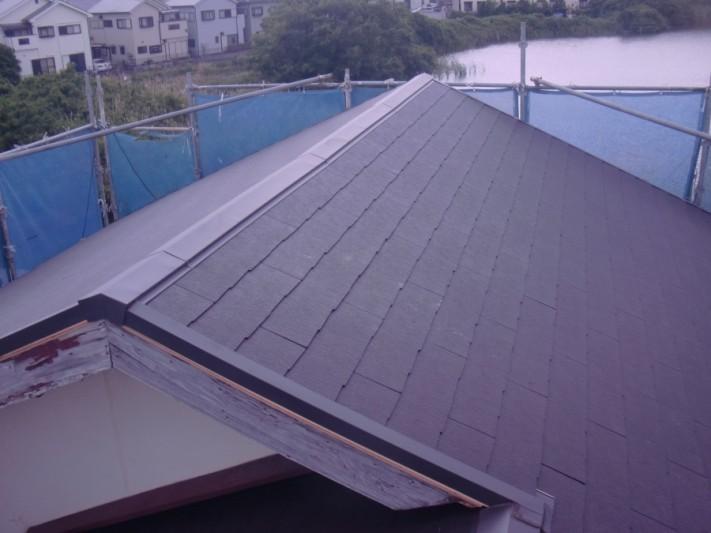 岸和田市土生町のきれいになった大屋根