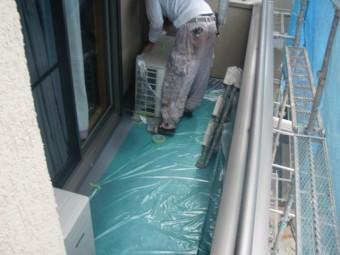 岸和田市西之内町の塗装前の養生