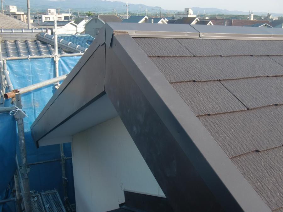 岸和田市土生町の屋根にガルバリウム鋼板設置完了