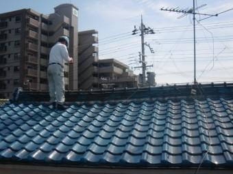 泉北郡忠岡町で屋根の葺き替え工事の現地調査