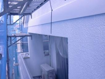 岸和田市西之内町のベランダ内部も下塗り