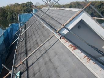 岸和田市下松町の屋根足場