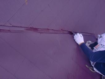 岸和田市包近町の屋根の谷樋塗装