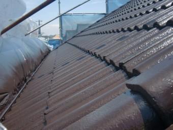 岸和田市西之内町の屋根の上塗り完了