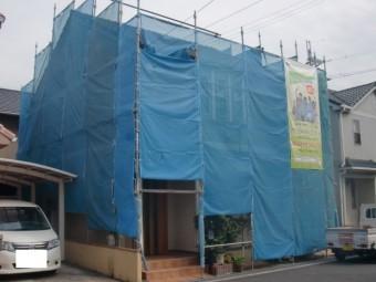 岸和田市西之内町の足場設置