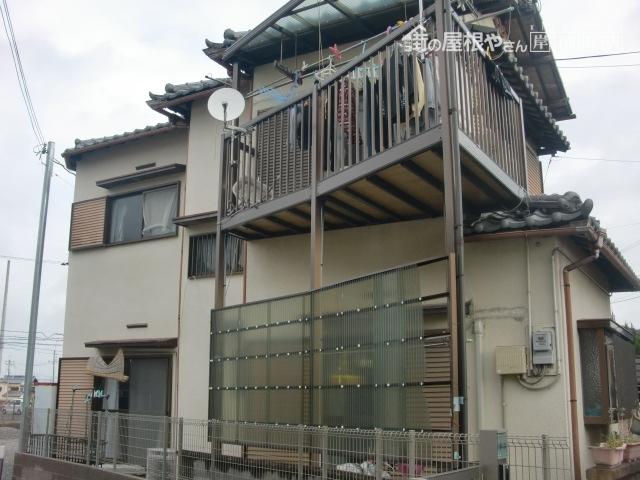 泉佐野市の外壁塗装の現地調査