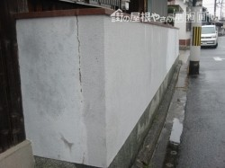 泉北郡忠岡町の塀の現況