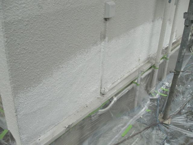 岸和田市天神山町の外壁パターン付け