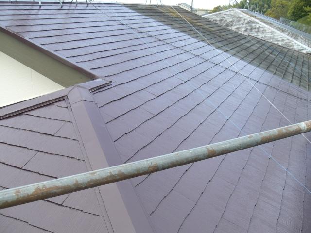 岸和田市天神山町の屋根塗装完了