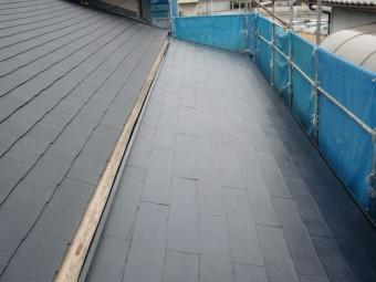 岸和田市の本宅側の屋根も塗装完了
