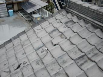 熊取町の屋根の被害状況