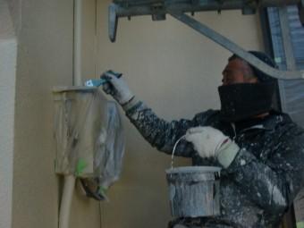 貝塚市の配管など塗装