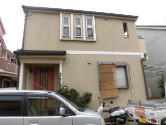 岸和田市西之内町の塗装前の外壁現況