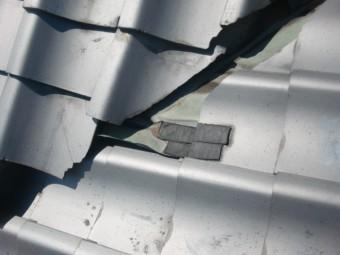 岸和田市土生町の屋根修理状況