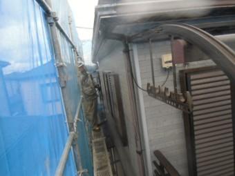 岸和田市尾生町の外壁高圧洗浄