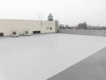 岸和田市の陸屋根防水工事完了