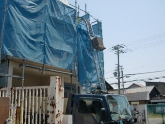 岸和田市春木本町の屋根葺き替え状況