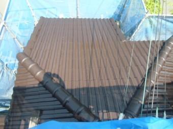 岸和田市天神山町の屋根塗装後