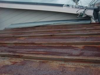 岸和田市のサビたカラー鋼板屋根
