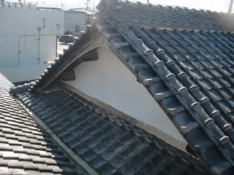 岸和田市の矢切の漆喰復旧