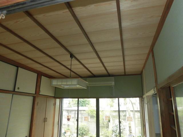 泉北郡忠岡町で和室の竿縁天井張替え完了