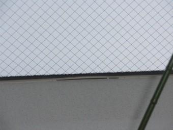 貝塚市王子の天窓に空いた隙間