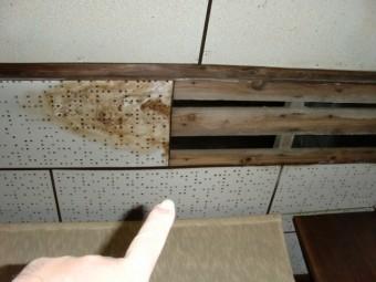 泉大津市のキッチン天井の雨漏り