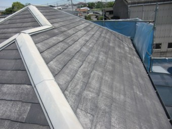 岸和田市三田町の洗浄後の屋根