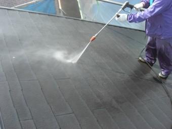 貝塚市半田の屋根の高圧洗浄